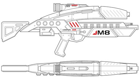 Volpin props m8 avenger mass effect m8 rifle malvernweather Gallery