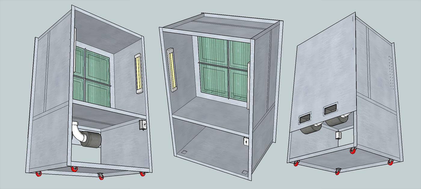 spray booth plans. Black Bedroom Furniture Sets. Home Design Ideas